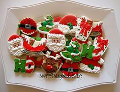 christmas platter cookies