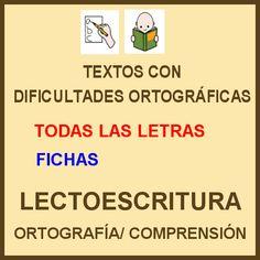 DIFICULTADES LECTORAS: Ortografía: Fichas para imprimir