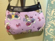 Thirty one handmade Suite Skirt Purse cover watercolor princess   handmade by ShellyJayneCovers on Etsy