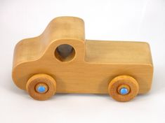Handmade Wooden Toy Truck, Play Pal Pickup Truck, Toys, Toy Truck, Wood Truck, Wooden Truck, Wooden Toy, Blue #odinstoyfactoy #handmade #handcrafted #woodentoy #toys #trucks #toytrucks #pickup #blue