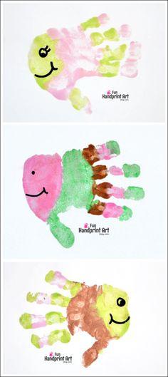 Fun Handprint Art for Kids: Fish Craft