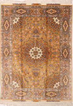 Tabriz Design Persian Rug 100% silk