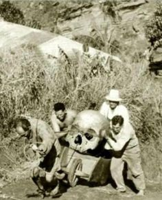 bringing the skull home from the flea market took 4 good men. look happy by making the purchase