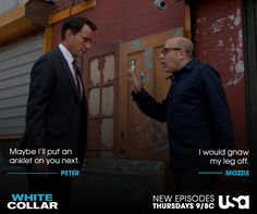 Could you image Mozzie on a tracking anklet? #WhiteCollar