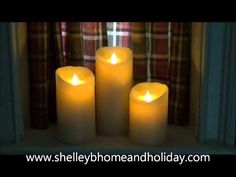 watch this video to see how real our new battery operated candles look, hard to believe its not a real candle!  shelley b home and holiday