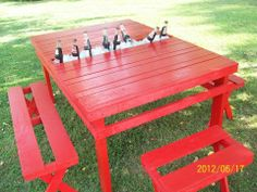 Repurposed- Built this picnic table out of pallets