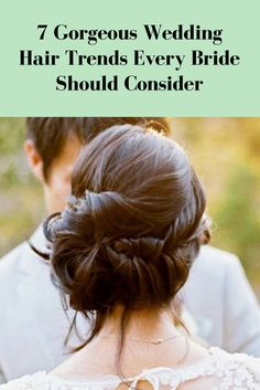 To complete your wedding day look, you need a hairstyle that perfectly complements your wedding gown and showcases your own personal style. Before you commit to the usual half-up/half- down or low bun, check out these seven hair trends.