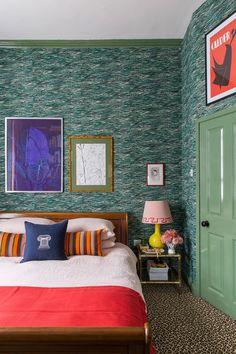Luke Edward Hall and Duncan Campbell's London Bedroom Next Bedroom, Home Bedroom, Master Bedroom, Bedroom Loft, Bedroom Inspo, Bedroom Inspiration, Interior Inspiration, Kids Bedroom, Bedroom Ideas