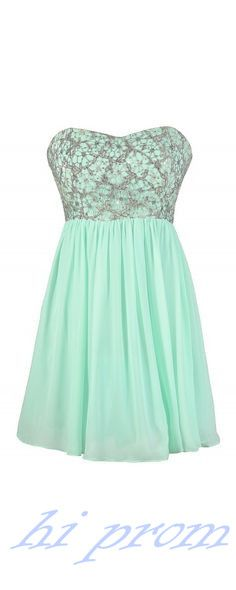 Mint Homecoming Dress,Chiffon Homecoming Dresses,Homecoming Gowns,Strapless Party Dress,Short Prom Dress,Sweet 16 Dress,Lace Homecoming Dresses For Teens