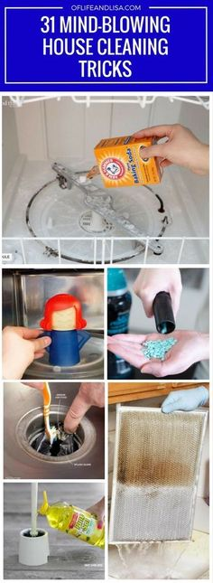 So many house cleaning tips, so little time. Repin for later!