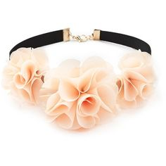 Forever 21 Flower Ribbon Choker ($6.90) ❤ liked on Polyvore featuring jewelry, necklaces, choker, hair, forever 21, flower jewellery, blossom necklace, blossom jewelry and forever 21 necklace