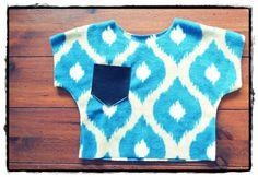 Toddler Fleece Slouchy Top / Girls Fleece Slouchy Top by Kainku