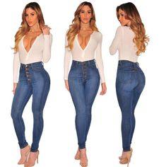 Good Hole Ripped Jeans Women Pants Cool Denim Pencil Jeans For Girl Pants Andrea Mendes Arroio Deiama Miami Beach Brazilian Brunette Jeans Bottoms