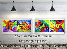 ♥♥♥♥♥♥♥♥These item are an INSTANT DOWNLOAD!♥♥♥♥♥♥♥♥  Perfect choice to have #print of my original Pop #Art Paintings fast and cheap on your wall or make a gift to someone you... #art #painting #abstract #watercolor
