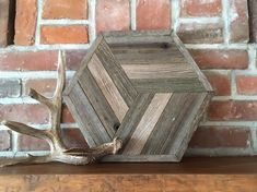 Excited to share the latest addition to my shop: Reclaimed wood wall art - Barn wood hexagon - Modern rustic decor Old Barn Wood, Reclaimed Wood Wall Art, Reclaimed Wood Projects, Reclaimed Wood Furniture, Salvaged Wood, Industrial Furniture, Wood Art, Woodworking Table Saw, Router Woodworking
