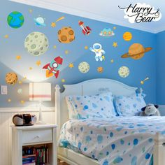 Send the kids to sleep via outer space with these fantastic wall stickers. The are easy to apply,peel and stick wall stickers and only £19.99.