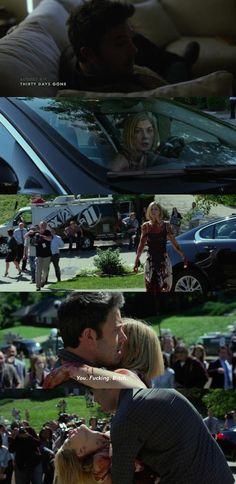 Gone Girls (2014) Rosamnd Pike as Amy Elliot Dunne, Ben Affleck as Nick Dunne
