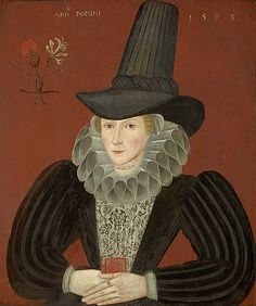 Esther Inglis, 1595. Calligrapher and miniaturist by an unknown artist