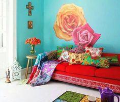 Colourful bohemian room
