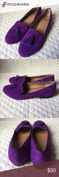 Kelsi dagger purple loafers Flats tassels Sz 8.5 Excellent, barely used condition! Kelsi Dagger Shoes Flats & Loafers