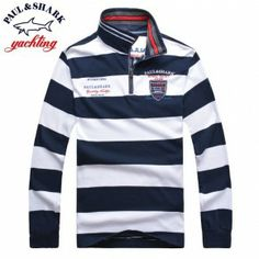 LONG SLEEVED Paul and Shark Men Polo Shirts Best Price 7088 5fbc8406605