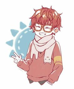 707, Luciel, Saeyoung Choi, cute, chibi, smiling; Mystic Messenger