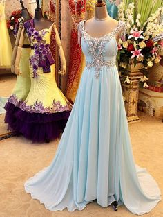 2016 Prom Dress Evening Gown In Chiffon And Shinning Pst0614 on Luulla