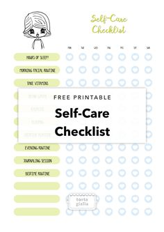 Free Printable Self-Care Checklist {newsletter subscription required}