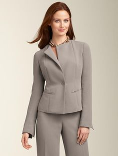 Simple yet elegant suit. Fits our gal's personality.