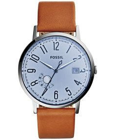 Fossil Women's Vintage Muse Tan Leather Strap Watch 40mm ES3975