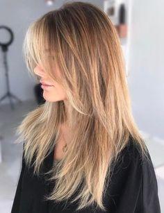 Long Caramel Balayage Shag Hairstyle