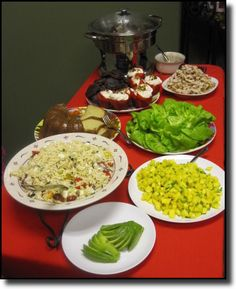 Delectable food from our Valentine's Blindfolded Tasting...all created by Mezza Luna Cafe in Midland, PA...we had chicken stuffed lettuce cups, pork sliders, orzo salad...and so much more. Recipes will be available soon at the store.