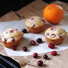Orange Cranberry Muffins Add flax with flour, and juice with zest.  Sprinkle chopped nuts on top before baking.  Do not use paper liners, they stick like crazy.