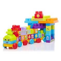 Maga Bloks: Mega Bloks First Builders - Uczący pociąg 1-2-3 81209