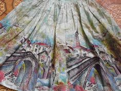 1950s scenc townscape skirt