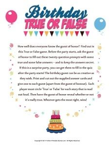 50th birthday party games for women and men