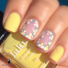"""Bring on the sun with """"Notting the Fancy"""" thanks @thecraftyninja for this pretty #summer #naillook #londontownusa #nailart #diynails #vegan #ecofriendly #nailpolish"""