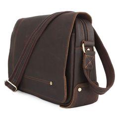 Handmade Vintage Leather Messenger Bag