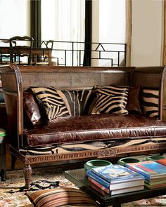Great Zebra fabric. Wish I could find a good Zebra fabric! Love this love seat!