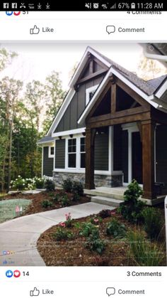 Exterior House Architecture Spaces Ideas For 2019 Exterior Paint Colors For House, Dream House Exterior, Paint Colors For Home, Stone On House Exterior, Gray Exterior Houses, Grey Siding House, Outdoor House Colors, Craftsman Exterior Colors, Cottage Exterior Colors