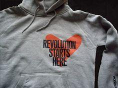 Revolution starts here Hoodie by workisnotajob.