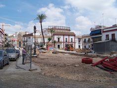 La plaza de España en obras en el año 2009