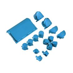 New Full Chrome Button Replacement Mod Game Kit for Playstation 4 PS4 Controller Joystick Video Game Playstation Blue Color