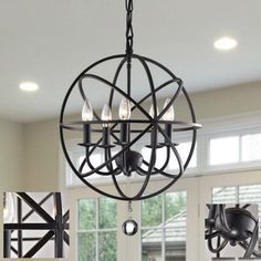 Ceiling-Pendant-Light-Lighting-Industrial-Iron-Kitchen-Modern-Globe-Fixture-Lamp