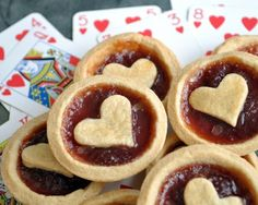 Cute little heart tarts. These would be perfect for Valentines Day!