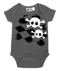 Amazon.com: My Baby Rocks Unisex-Baby Argyle Skull One Piece Romper: Clothing