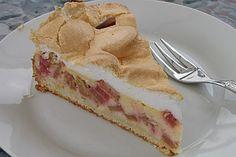Rhabarber - Quark - Kuchen unter Baiserhaube