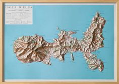 Elba Island Raised Relief Map