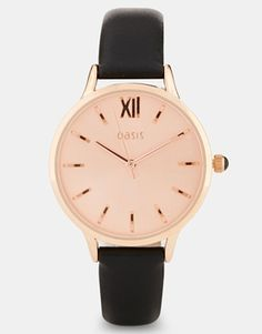 Oasis+Classic+Rose+Gold+Face+Watch