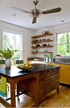 8 Fun Things You Can Repurpose Into Kitchen Islands. Looking for ideas for kitchen island remodels or redesign ideas for… – Home Renovation Antique Kitchen Island, Kitchen Island Table, Farmhouse Kitchen Island, Kitchen Island With Seating, Kitchen Islands, Dresser Kitchen Island, Farmhouse Style, Farmhouse Ideas, Island Bench